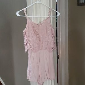 Pink mossimo romper